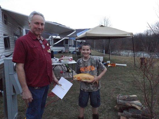 Winner of the kids fishing derby