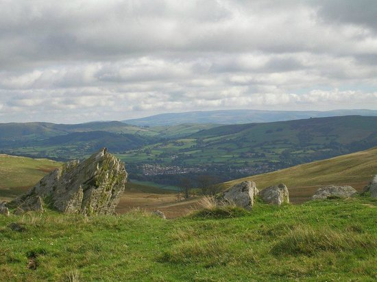 Mid Wales Bunkhouse Tipi and Camping: View from one of our recommended walks high above Rhayader