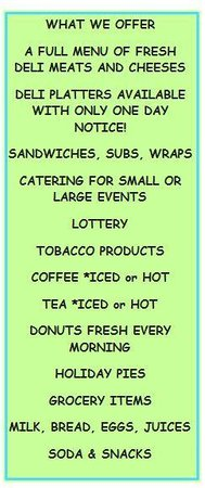 Joe's Variety: What we can offer