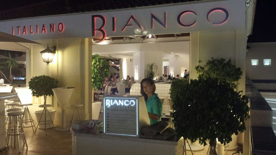 Bianco Restaurant with lovely welcome staff as you go in.