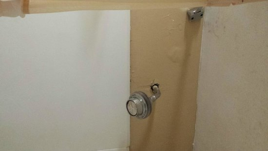 Americas Best Value Inn & Suites - Memphis East : The entire shower had mildew on the ceiling and holes in the walls