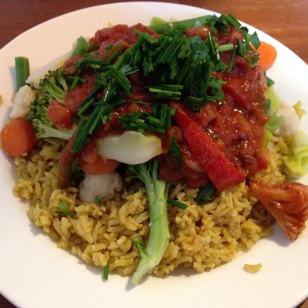 Morgenstedet : Vegan stew with rice - delicious and affordable