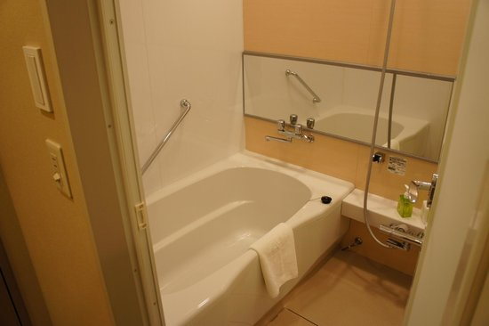 Hotel Ryumeikan Tokyo: 寬廣的淋浴間