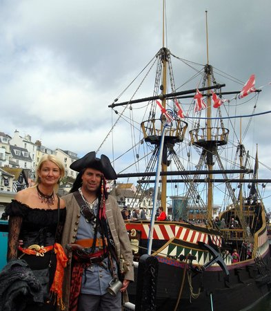 Brixham Harbour: Golden Hind Pirates