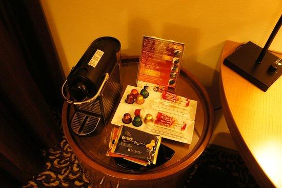 Hotel Ryumeikan Tokyo: 房間內有咖啡機