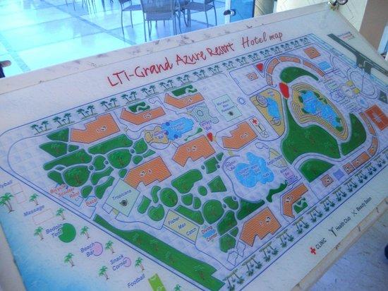 lti Tropicana Grand Azure : Карта отеля
