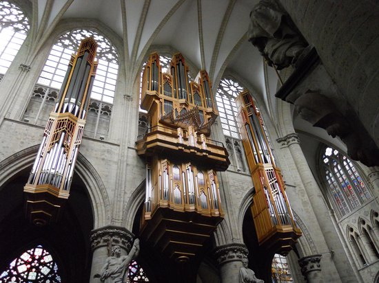 Cathédrale Saints-Michel-et-Gudule de Bruxelles : órgano de la iglesia