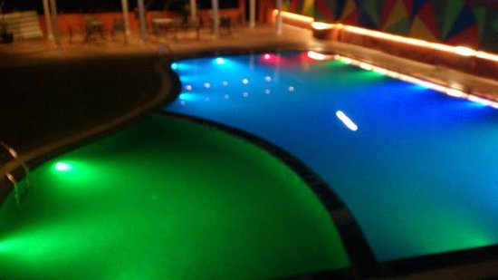 Saj Resort: Multi color pool