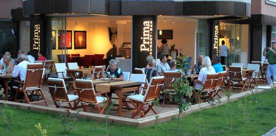 Prima Restaurant Bar : Outside in June