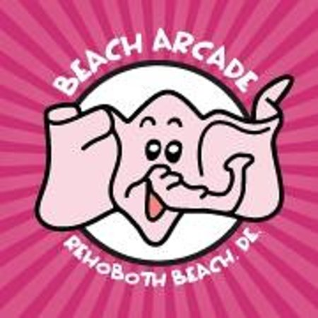 Beach Arcade Logo with Dolly The Elephant