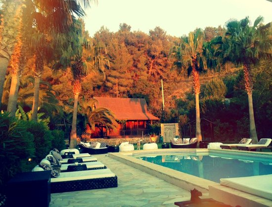 Finca Can Xuxu : The pool just before sunset