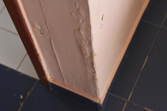 Hotel Cayo Levisa: Bathroom wall jamb - damp