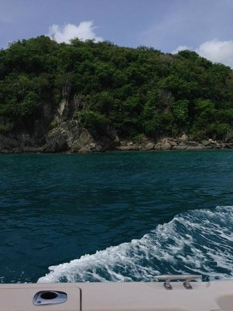 Big Blue Excursions: Congo island (I think) where we stopped for snorkeling.