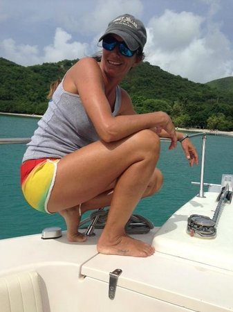 Big Blue Excursions: Captain Mindy hard at work.