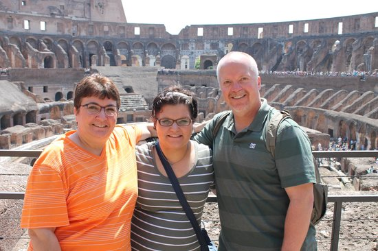 Leisure Italy - Tours: Our family in Rome, we toured with two other couples.