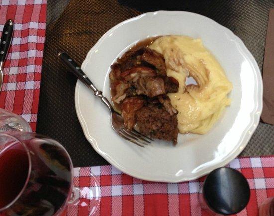 La Rossettisserie : Stuffed lamb with mash