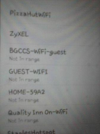 Quality Inn: Wifi not in range