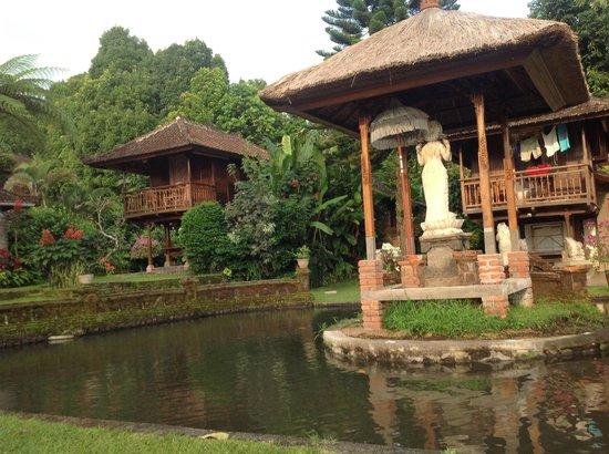 Puri Lumbung Cottages : Les chambres vues de la rizière