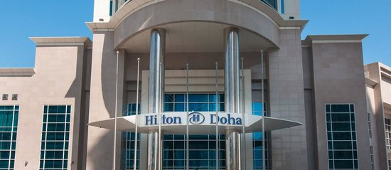 Hilton Doha: Front of hotel