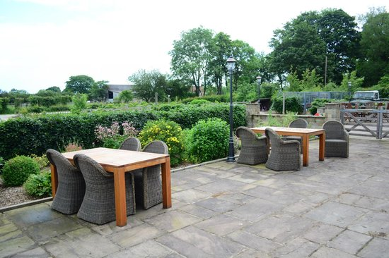 Barker Stakes Farm: The patio area