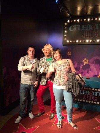 Madame Tussauds Blackpool: Me and my other half with Keith