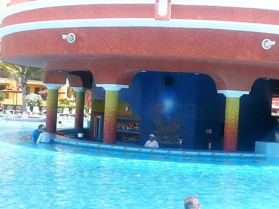 The Royal Haciendas All Suites Resort & Spa : Swim-up bar!