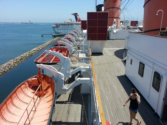 The Queen Mary: life rafts