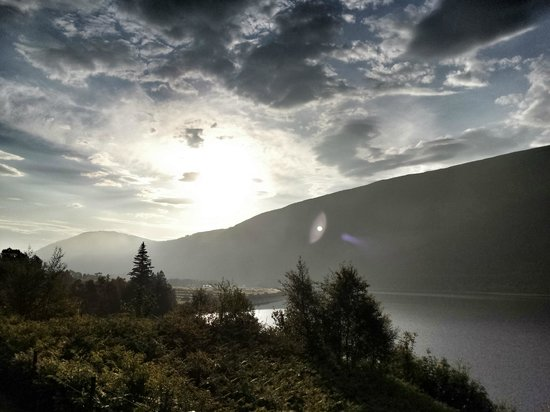 The Great Glen Lodges: Looking along the Glen