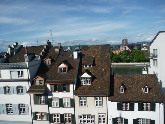 Hotel D - Basel: View from Balcony Junior Suite with Terrace - Top Floor