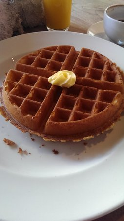 The Table Cafe: Waffle (yes it was way too big)