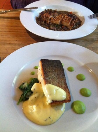 Y Polyn: Beautiful Locally caught Sewin & Belly Pork with Lentils