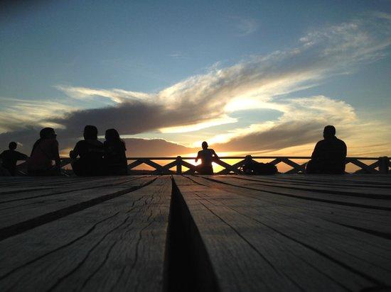 Ingleses Bridge: Por do sol