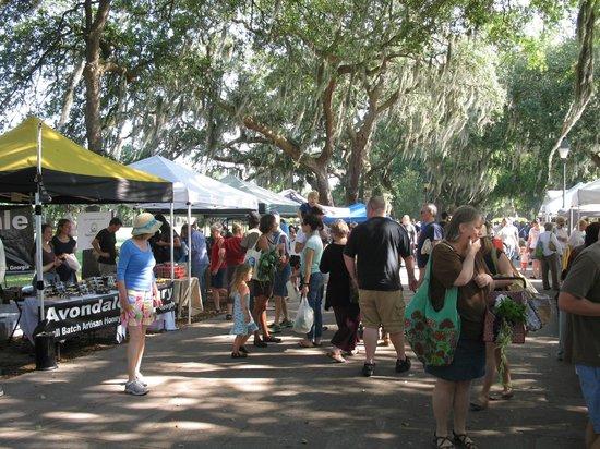Parc Forsyth : Farmers' Market at Forsyth Park on Saturday mornings