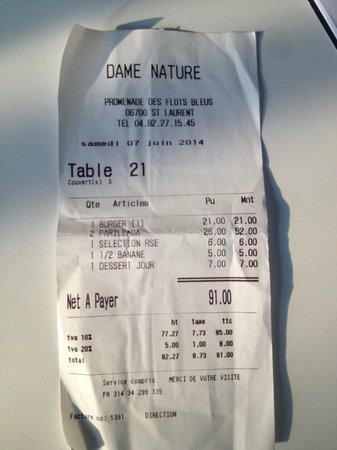 Dame Nature : il conto