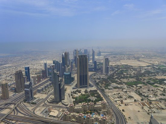 Burj Khalifa: View from the outdoor observation deck.