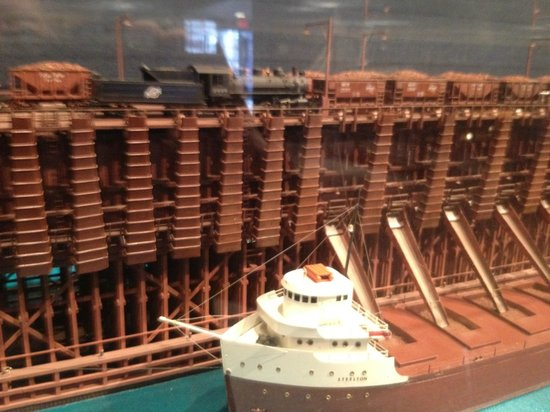Wisconsin Maritime Museum : Model of ore loading terminal