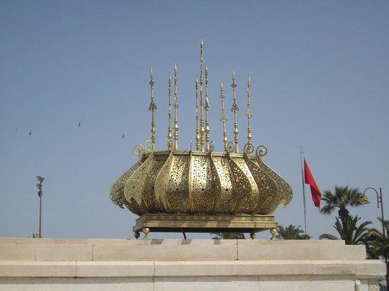 Mausolée de Mohammed V : Mausoleum of Mohammed V - Ceiling Crown