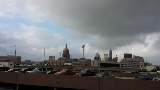 Hampton Inn & Suites Austin at The University/Capitol: View from the pool deck...