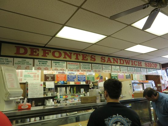 Famous Fat Dave's Food Tours: Defontes Sandwich Shop