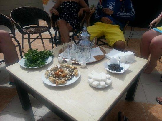 Royal Mirage Agadir Hotel: Slynna mietowa herbata