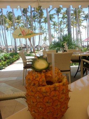 Luxury Bahia Principe Bouganville : Drink from Pineapple Fest (Saturdays) in Los Corales dining room