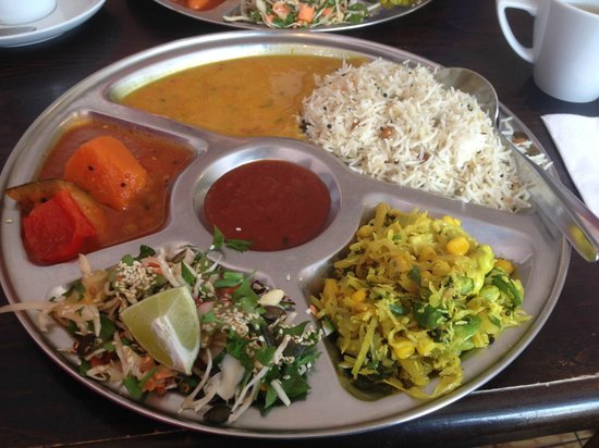 Thali Cafe Easton: Dairy-free Thali