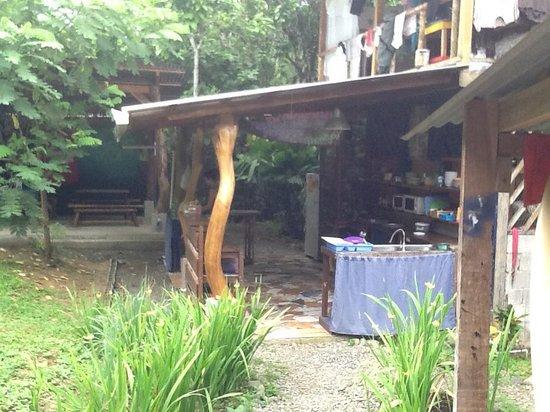 La Ruka Hostel: backyard