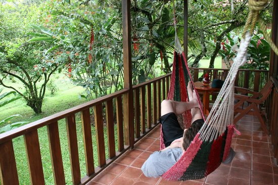Hotel Rancho Cerro Azul: the back porch