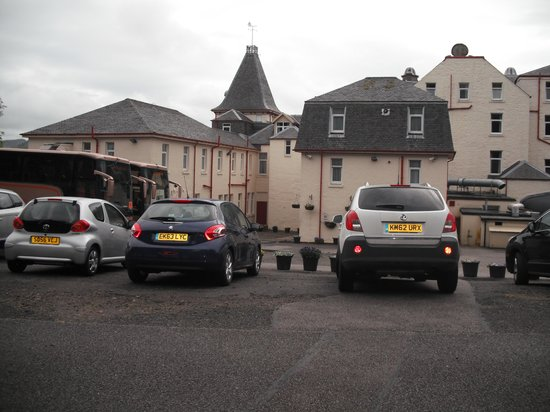 The Alexandra Hotel: The car park from our room