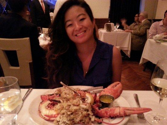 Sea Fire Grill : Crab meat stuffed Lobster