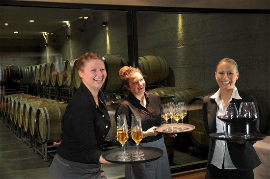 Weingut Heitlinger: Aperitif vor dem Barrique-Keller