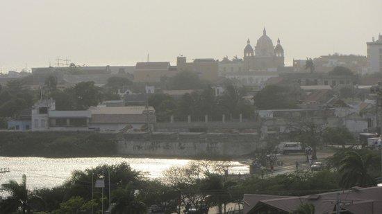 Château de San Felipe de Barajas : visão da cidade
