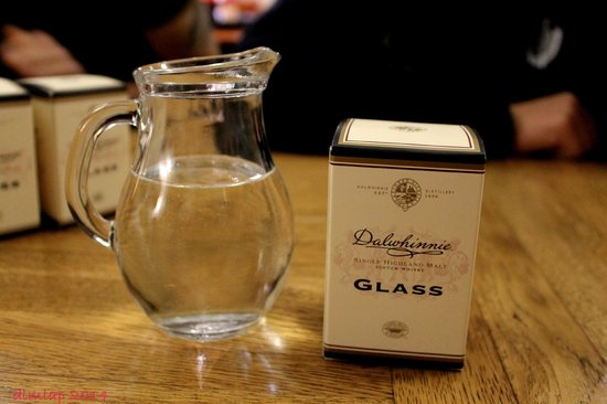 Dalwhinnie Distillery: The tour comes with a dram glass and wee tasting!