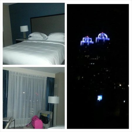 Hyatt Regency Atlanta Perimeter at Villa Christina: The room and my view at night from rm 425